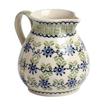 Polish Pottery 45-oz. Floral Fern Handmade Ceramic Drink Pitcher