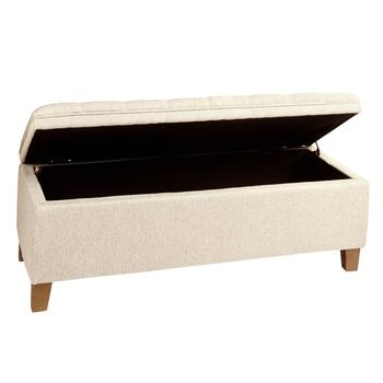 Pillow Top Upholstered Tufted Storage Bench view 2