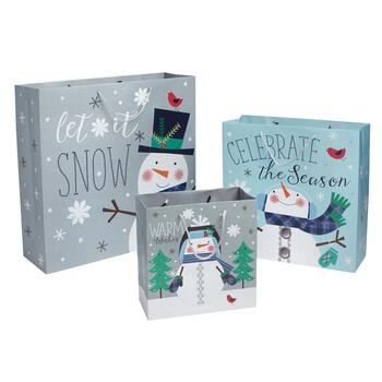 """Warm Wishes"" Holiday Gift Bags, Set of 6"