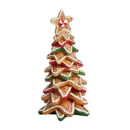 "11"" Decorative Gingerbread Star Cookie Christmas Tree"