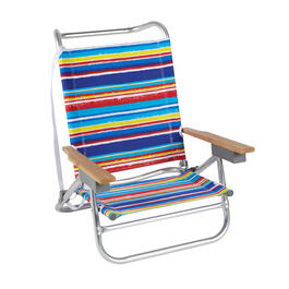 Multicolor Stripes 5-Position Sand Chair view 1