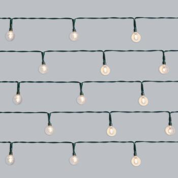 7' Round Smooth Clear LED Indoor String Lights, Set of 4