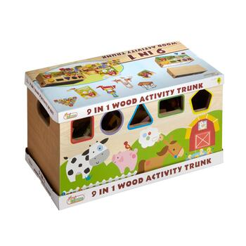 9-in-1 Wood Activity Trunk view 2