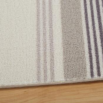 "Waverly® 4'4""x6'11"" Cream/Gray Striped Indoor/Outdoor Area Rug view 2"