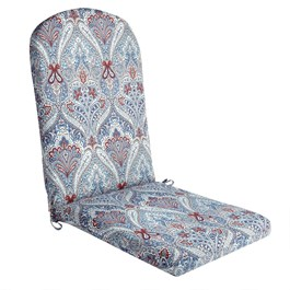 Paisley Blue Indoor/Outdoor Adirondack Chair Pad
