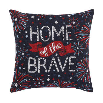 """Home of the Brave"" Fireworks Tapestry Square Throw Pillow view 1"