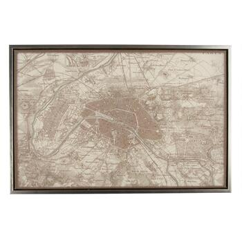 "24""x36"" Paris Map Wall Decor"