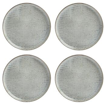 The Grainhouse™ Textured Lines Salad Plates, Set of 4