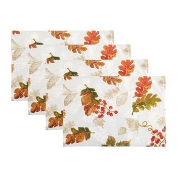 Autumn Leaves Fabric Placemats, Set of 4