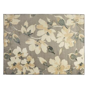 5'x7' Gray Floral Area Rug