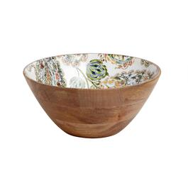 60-oz. Floral Decal Wood Serving Bowl