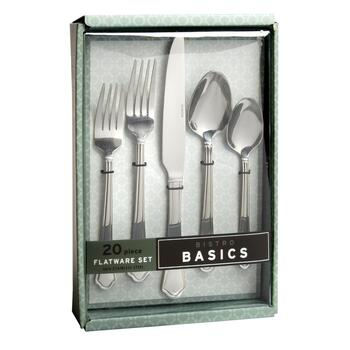 Bistro Basics Capri Flatware Set, 20-Piece view 2