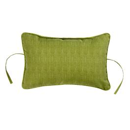 Solid Green Indoor/Outdoor Headrest Pillow
