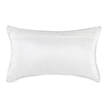 Silver Diamond Bead Oblong Throw Pillow view 2