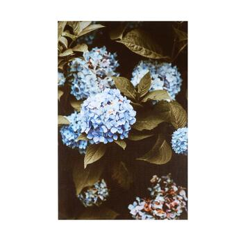 "24""x36"" Blue Flowers Canvas Wall Art"