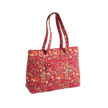 "18""x14"" Paisley Qulted Insulated Quilted Tote Bag"