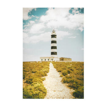 Black/White Lighthouse Photograph Canvas Wall Art view 1