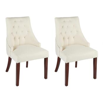 Tabetha Upholstered Wingback Accent Chairs, Set of 2