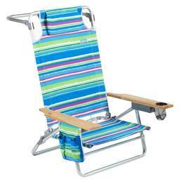 Jumbo Blue/Green/Purple Striped 5-Position Sand Chair