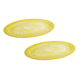 Solid Swirl Melamine Oval Serving Platters, Set of 2 view 1