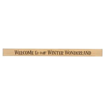 "48"" ""Welcome to our Winter Wonderland"" Wood Wall Sign"