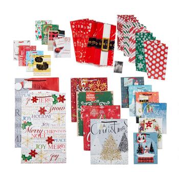 """Merry Christmas"" Gift Bag Value Pack, 50-Count"
