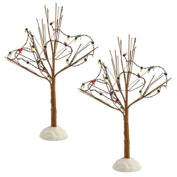 LED Lighted Birch Trees, Set of 2
