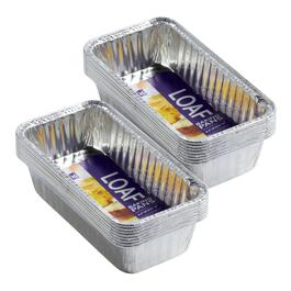 8-Pack Aluminum Loaf Pans, Set of 2