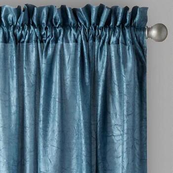 Crushed Silkanza Window Curtains, Set of 2