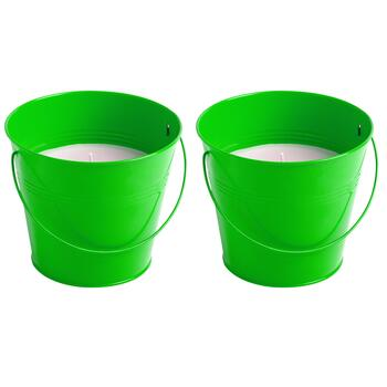 32-oz. Citronella Candle Buckets, Set of 2