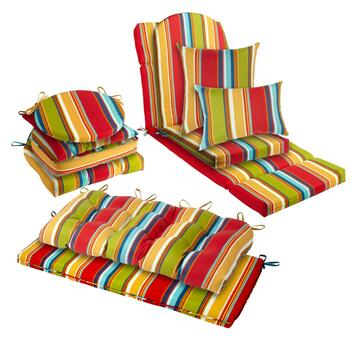 Fiesta Stripe Indoor/Outdoor Seat Cushions Collection