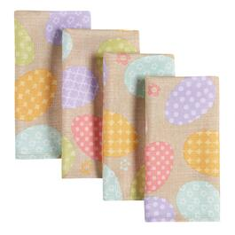 4-Pack Pastel Patterned Eggs Print Napkins, Set of 2