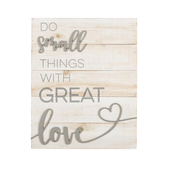 "16""x20"" ""Do Small Things with Great Love"" Wood Box Wall Decor view 1"