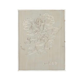 "The Grainhouse™ 25""x19"" Carved Wood ""Grace"" Floral Wall Decor view 1"