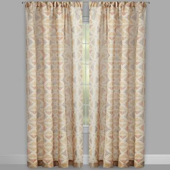 Hawthorn Geometric Squares Window Curtains, Set of 2 view 2