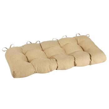 Solid Beige Indoor/Outdoor Double-U Bench Seat Pad