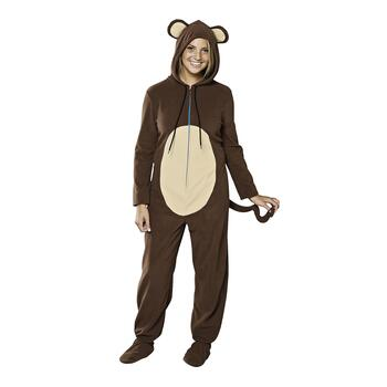 Ladies' Footed Fleece Monkey Pajamas