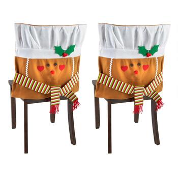 Holiday Gingerbread Chair Covers, Set of 2