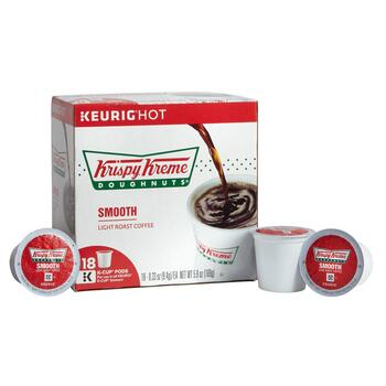 Krispy Kreme Doughnuts® Smooth Blend Coffee Pods, 4 Boxes