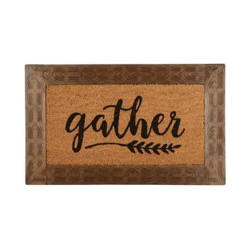"The Grainhouse™ 18""x30"" ""Gather"" Border Coir Door Mat"