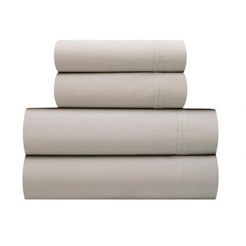 Percale Weave Bed Sheet Set Sld 400cvc Gy K