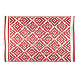 Patio Mat Red 4x6 B view 1