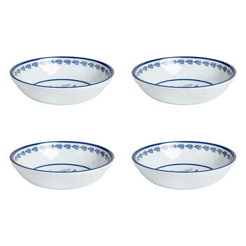 Waverly® Turquoise Floral Melamine Soup Bowls, Set of 4 view 1