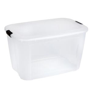 160-qt. Clear Storage Box with Locking Lid