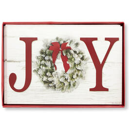 Joy Wreath Christmas Cards, 18-Count view 1