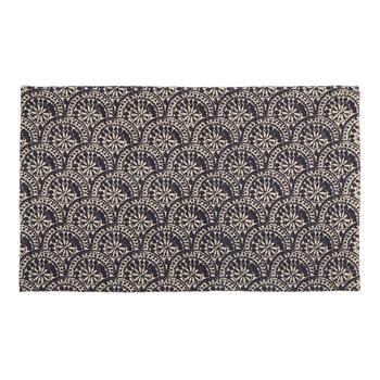 "The Grainhouse™ 27""x45"" Dark Blue Circles Woven Accent Rug"