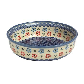 "11.5"" Polish Pottery Floral Fruit Bowl"