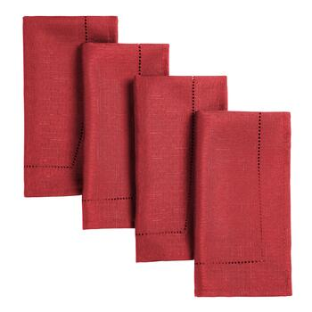 Hemstitch Fabric Napkins, 4-Pack