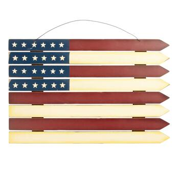 American Flag Fence-Style Wall Hanger