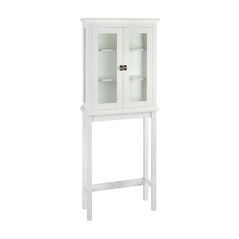 "67"" White Scarsdale Space Saver Cabinet"